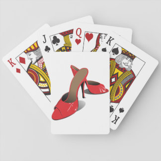 Naipes rojos de los zapatos de tacón alto