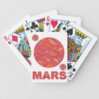 Naipes rojos del arte del planeta de Marte Baraja Cartas De Poker