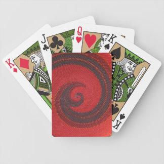 Naipes rojos del extracto del alambre cartas de juego