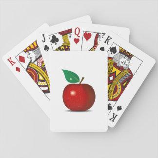 Naipes rojos quebradizos de Apple