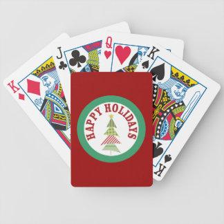 Naipes rojos redondos del medallón del día de baraja de cartas