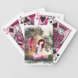 Naipes rosados de hadas crepusculares baraja de cartas