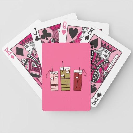 Naipes rosados de la bicicleta de la bebida baraja cartas de poker