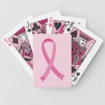 Naipes rosados de la conciencia del cáncer de pech baraja cartas de poker