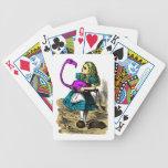 Naipes rosados de la llave del país de las maravil baraja de cartas