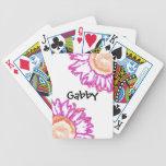 Naipes rosados de neón personalizados de los giras cartas de juego