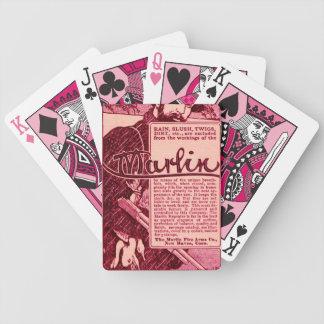 Naipes rosados del anuncio del arma de las armas d barajas de cartas