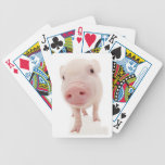 Naipes rosados del cerdo del cochinillo baraja cartas de poker