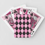 Naipes rosados del modelo de Argyle Baraja Cartas De Poker