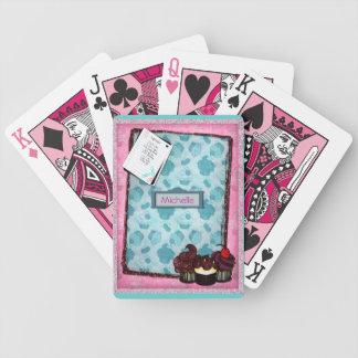 Naipes rosados personalizados de la magdalena del  barajas de cartas
