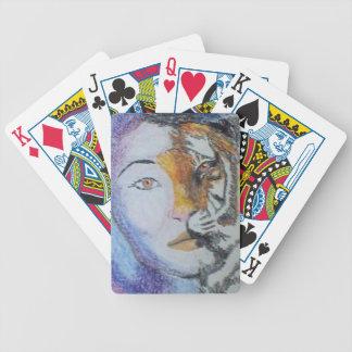 naipes salvajes de la señora cartas de juego