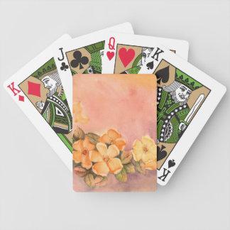 Naipes salvajes de los rosas del vintage baraja de cartas