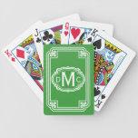 Naipes simples del monograma cartas de juego