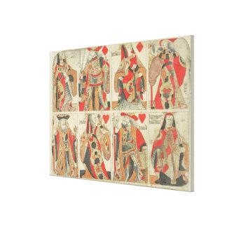 Naipes sin cortar, fin del siglo XVIII Impresión En Lienzo