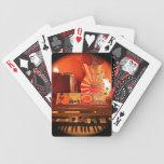 Naipes soleados del tiempo cartas de juego