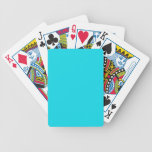 Naipes sólidos del azul de la aguamarina barajas de cartas