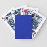 Naipes sólidos del azul real cartas de juego