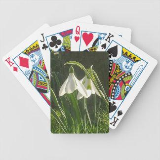 Naipes Sunlit de Snowdrops Baraja Cartas De Poker