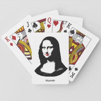 Naipes transparentes de Mona Lisa del arte pop Barajas De Cartas