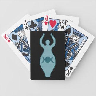 Naipes triples de la diosa de la luna cartas de juego