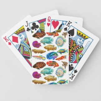 Naipes tropicales de agua dulce de los pescados baraja cartas de poker