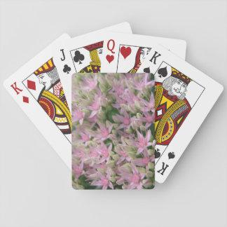 Naipes tropicales rosados bonitos de las flores