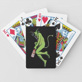 Naipes verdes del ajenjo del diablo de Maurin Quin Barajas De Cartas