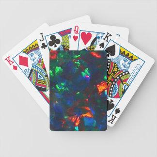 Naipes verdes rojos del diseñador del fuego del óp cartas de juego