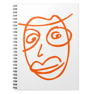 Naive artistic illustration notebook