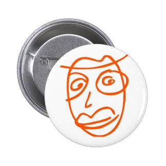 Naive artistic illustration pinback button