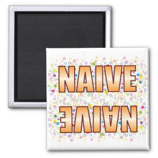 Naive Bubble Tag 2 Inch Square Magnet