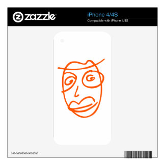 NAIVE cool illustration iPhone 4S Skin