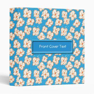 Naive daisies on blue 3 ring binder