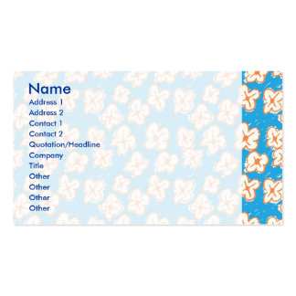 Naive daisies on blue business card templates
