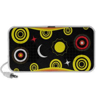Naive funky pattern iPod speaker