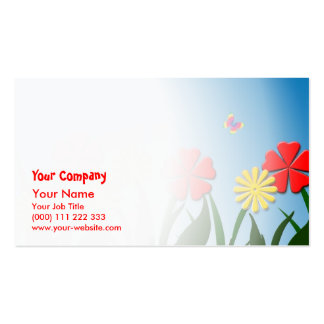 Naive nature scene business card template