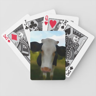 Naive Painted Young Cow Bicycle Playing Cards