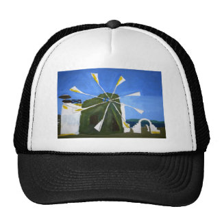 Naive Painting of a Windmill Hat