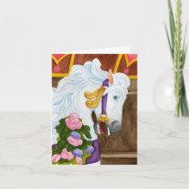 Najira Carousel Horse Note Card