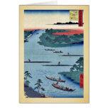 Nakagawa river mouth by Andō, Hiroshige Ukiyo-e. Cards