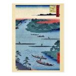 Nakagawa river mouth by Andō, Hiroshige Ukiyo-e. Post Card