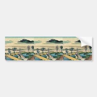 Nakahara de Soshu por Katsushika, Hokusai Ukiyoe Pegatina Para Auto