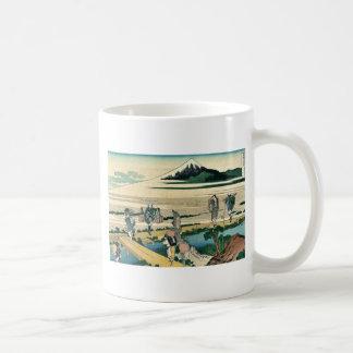 Nakahara de Soshu por Katsushika, Hokusai Ukiyoe Taza De Café