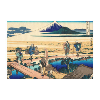 Nakahara in Sagami Province Stretched Canvas Print