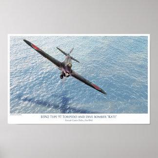 "Nakajima B5N1 ""Kate"" torpedo bomber Poster"