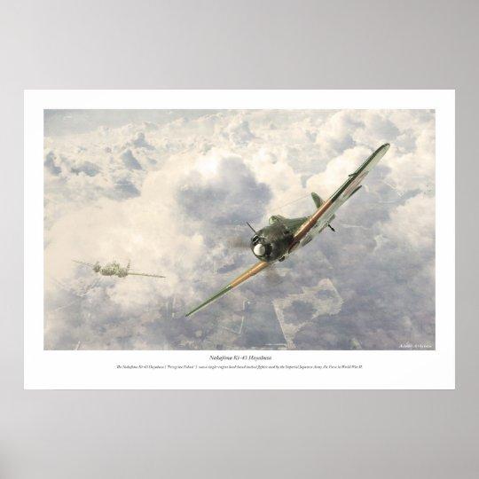 Nakajima Ki-43 Hayabusa Poster