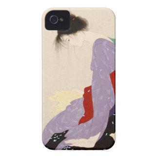 Nakajima Kiyoshi Love Letter japanese woman art iPhone 4 Case