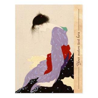 Nakajima Kiyoshi Love Letter japanese woman art Postcard
