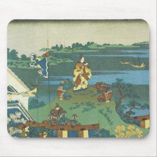 Nakamaro que mira la luna, Hokusai, 1835 Mouse Pad