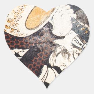 Nakamura by Utagawa Kuniyoshi Heart Sticker